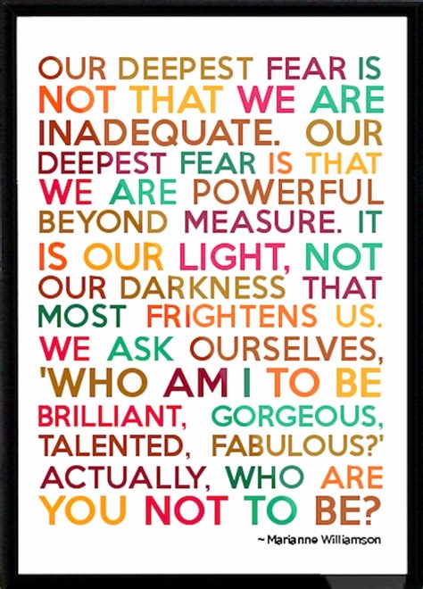 inspirational quotes our deepest fear Tops marianne williamson quotes our greatest fear
